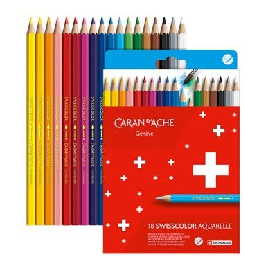 Caran d'Ache Swisscolor 18db-os akvarellezhető színesceruza készlet