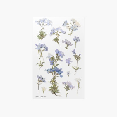 Appree Sticky Pressed Flower Sticker - Moss phlox