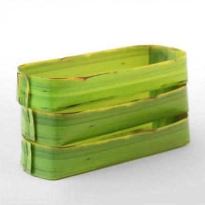 Appree természetes banánlevél hatású tároló - hosszúkás méretű 3db-os csomag