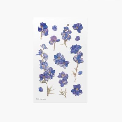 Appree préselt virág hatású matrica kerti szarkalábbal