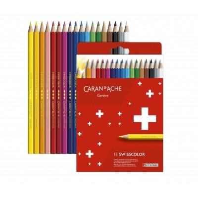 Caran d'Ache Swisscolor 18db-os színesceruza készlet