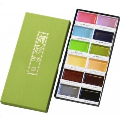 Kuretake Gansai Tambi akvarell, 12 db-os készlet Set II. - pasztell színek