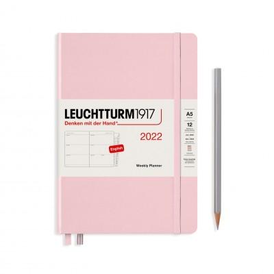 Leuchtturm1917 határidőnapló 2022, A/5 heti felbontású naptár, Powder