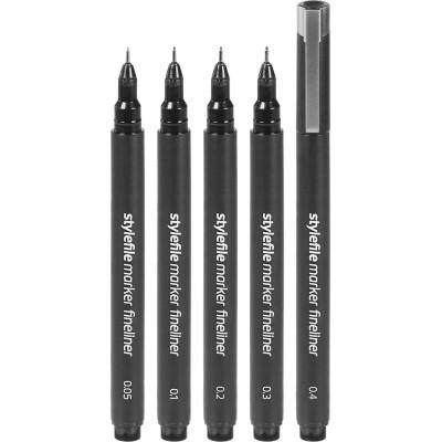 Stylefile marker fineliner 'F' 5 db-os
